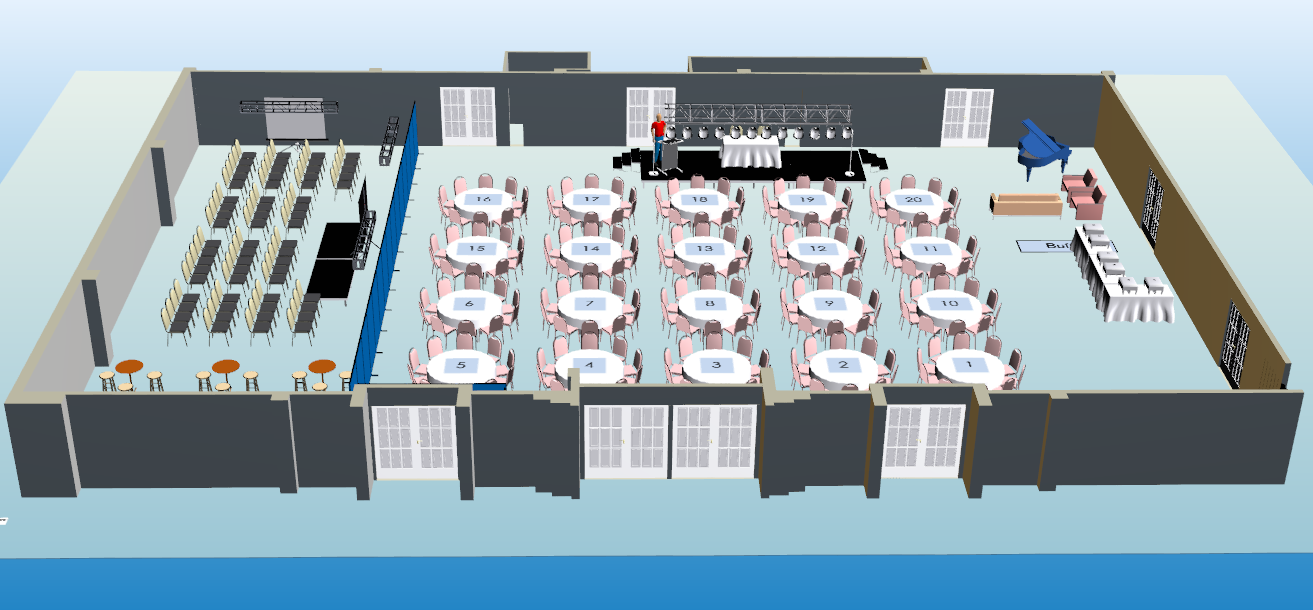 Event services event layout software the ability to for Banquet floor plan software