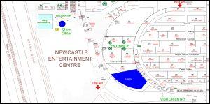 Event Site Plan Of Newcastle Entertainment Centre by www.visiogroup.com.au