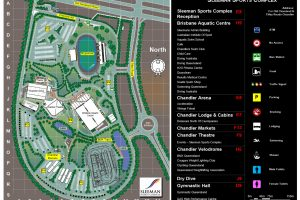 Scaled Site Plan of Sleman Sports Complex in Chandler QLD