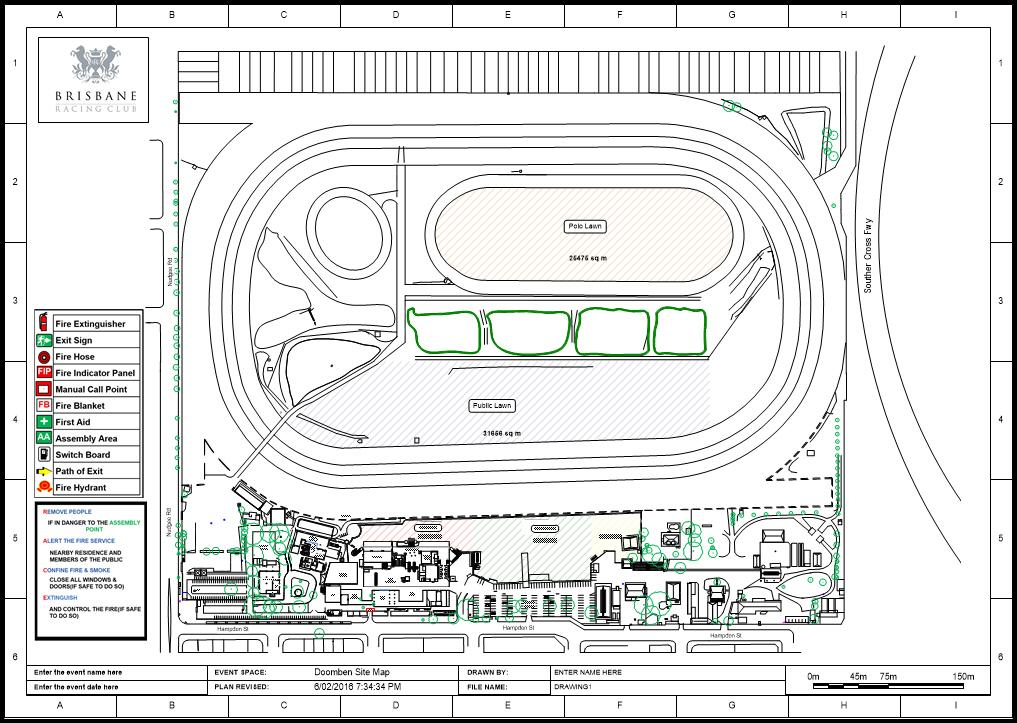 Brisbane Racing Club Race Course Floor Plan