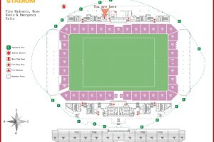 Overhead Image Of Parramatta Stadium Seating And Field
