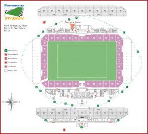 Overhead Image Of Parramatta Stadium Seating And Field
