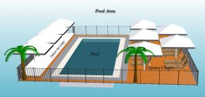 Outdoor Pool Area With Seating