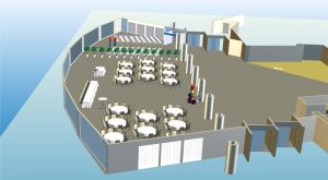 Microsoft Visio 3D Event Floor Plan