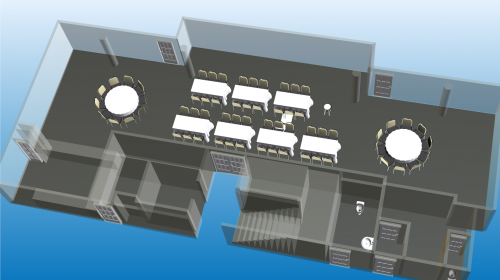 3D Visio Group Floor Plan, Event Layout