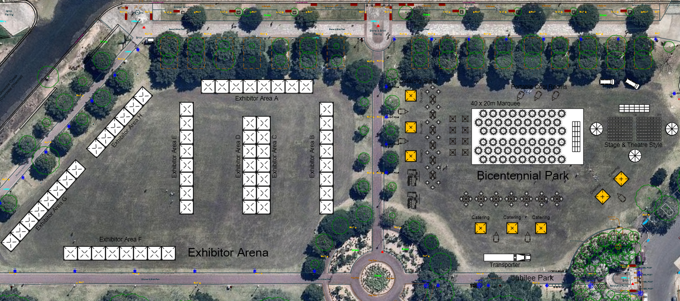 Outdoor Plan Site Map Festival