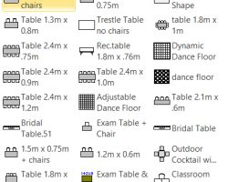 Smart Shapes Table With Labeled Icons