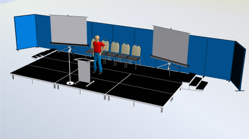 3D Stage Set Up By Visio Group