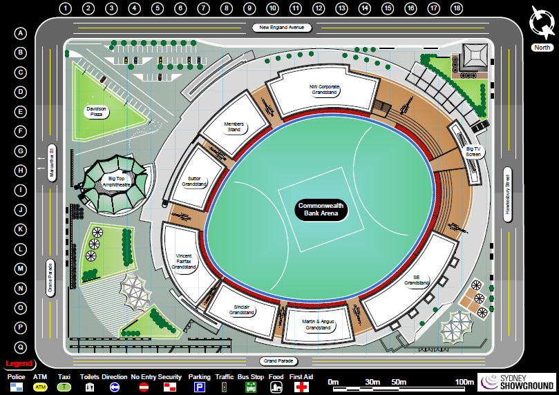 Sydney-Showground Site Map by Visio Group