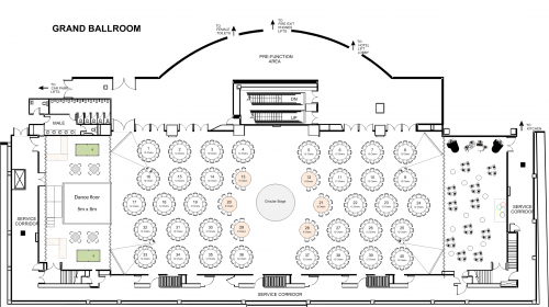 Function Event Floor plan Of Westin Sydney Hotel