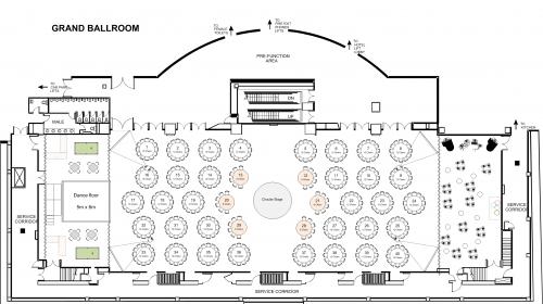 Function Event Floor plan Of Westin Sydney Hotel