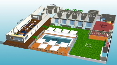 3D Floor Plan Of Function Event
