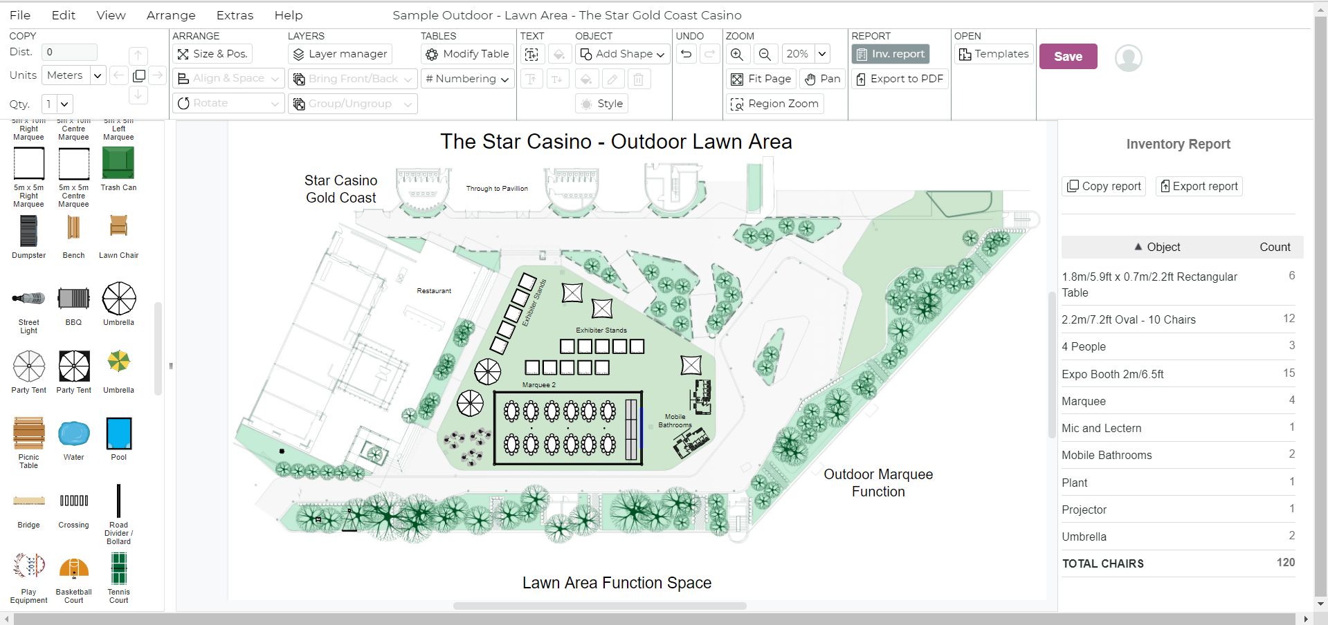 Visio Site Plan Melbourne Showgrounds